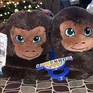 Build-A-Bear Monkey Slippers